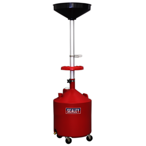 Mobile Oil Drainer 80ltr Manual Discharge - Sealey - AK80D