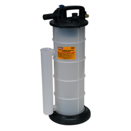 Vacuum Oil & Fluid Extractor Air Operated 9ltr - Sealey - TP6903
