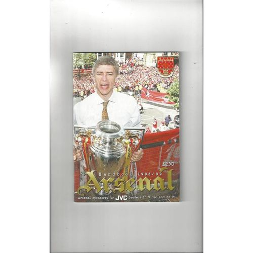 Arsenal Official Football Handbook 1998/99