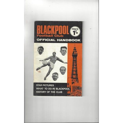 Blackpool Official Football Handbook 1969