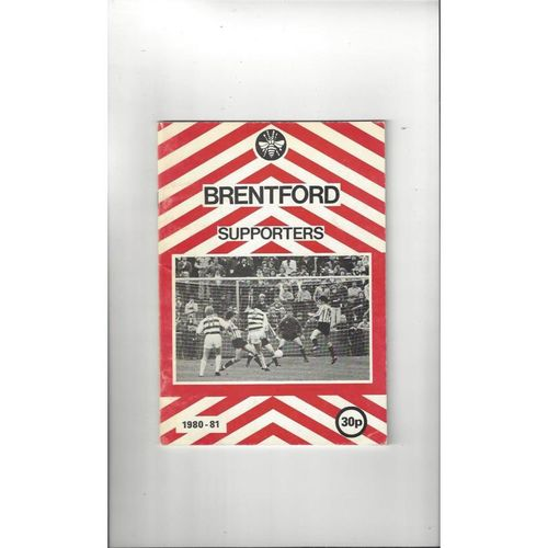 Brentford Supporters Football Handbook 1980/81