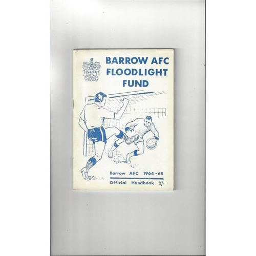 Barrow Official Football Handbook 1964/65