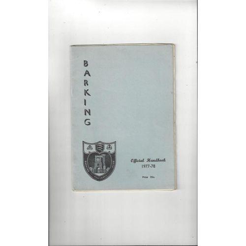 Barking Official Football Handbook 1977/78