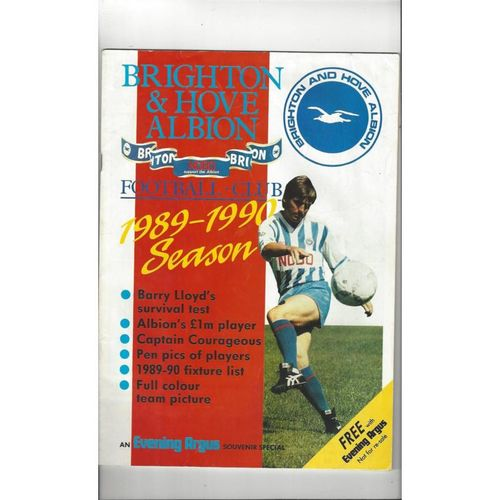 Brighton Souvenir Special Football Magazine 1989/90