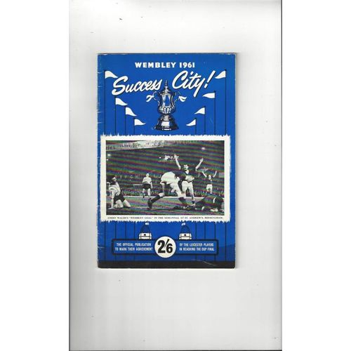 Leicester City Official Football Publication Wembley 1961