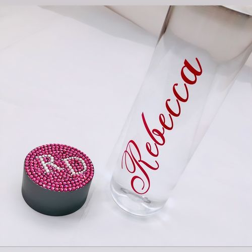 Personalised Water Bottle Made with Swarovski Crystals