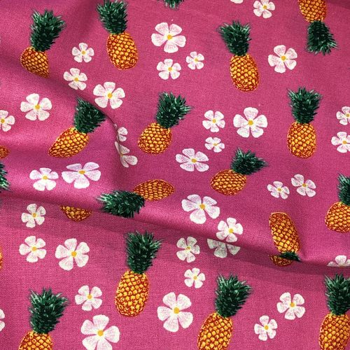 Tropical Pineapples Cotton