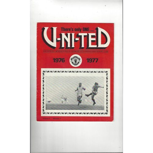 Manchester United There's only one United Official Newsletter Vol 8 No 2 1976/77
