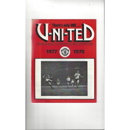 Manchester United There's only one United Official Newsletter Vol 9 No 2 1977/78