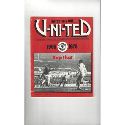 Manchester United There's only one United Official Newsletter Vol 10 Easter 1979