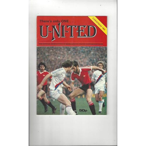 Manchester United There's only one United Official Newsletter Christmas 1980