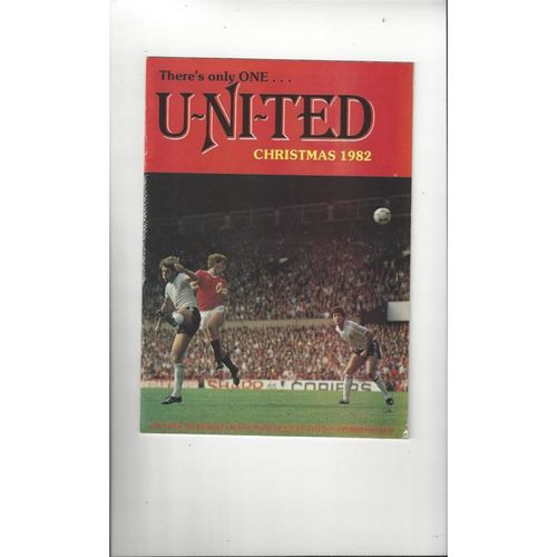 Manchester United There's only one United Official Newsletter Christmas 1982