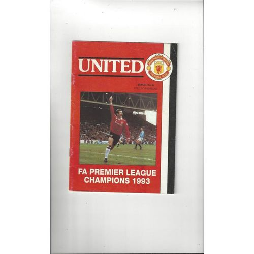 Manchester United Official Members Magazine No 6 1993