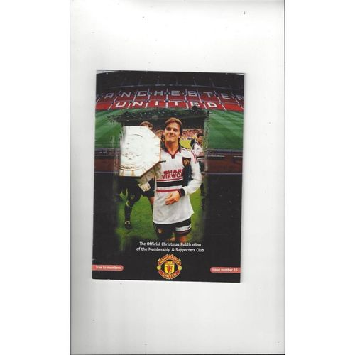 Manchester United Official Members Magazine No 15 Christmas 1997
