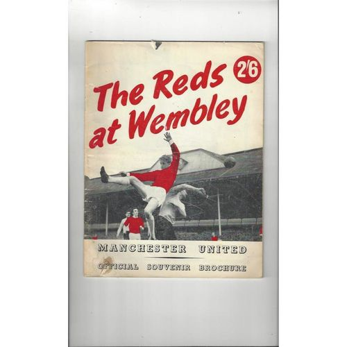 Manchester United Road to Wembley Official Souvenir Brochure 1963