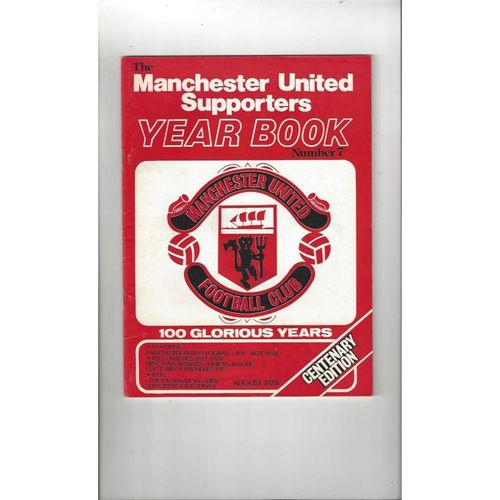 Manchester United Official Football Supporters Yearbook No 7 1978