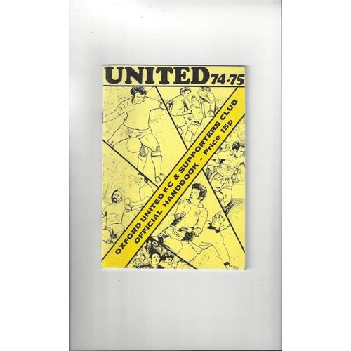 Oxford United Official Football Handbook 1974/75