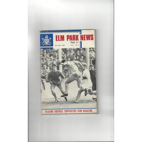 Reading Football Supporters Club Magazine Vol 1 No 2 1967