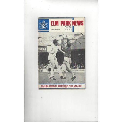 Reading Football Supporters Club Magazine Vol 1 No 4 1968
