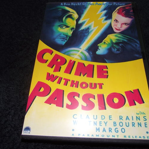 CRIME WITHOUT PASSION 1934 DVD CLAUDE RAINS