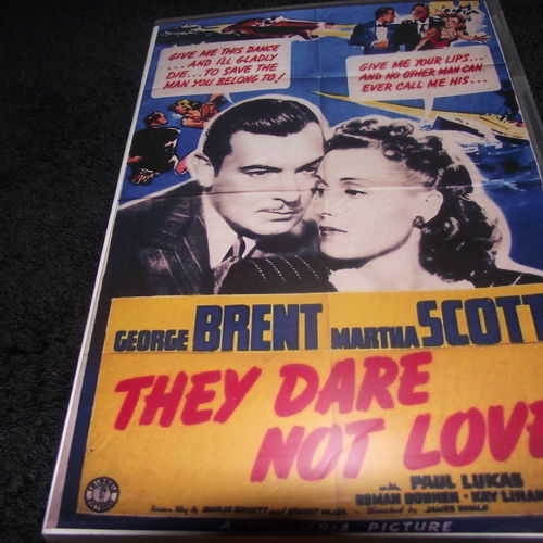 THEY DARE NOT LOVE 1941 DVD