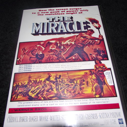 THE MIRACLE 1959 DVD ROGER MOORE