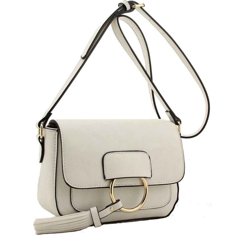 Verna fashion designer handbag white