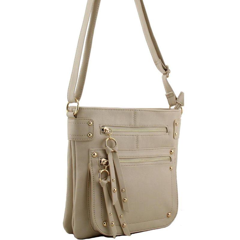 Beige Cross Body Shoulder Faux Leather Handbag Aldo