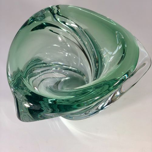 Giant Val Saint Lambert crystal bowl by Guido Bon
