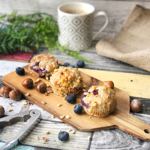 Blueberry and Hazelnut Muffins