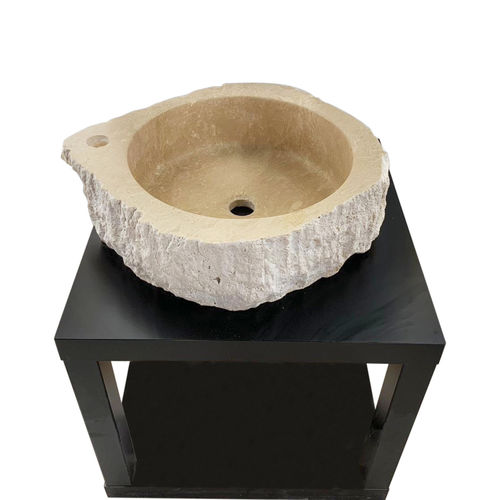 Travertine Stone Sink - Round