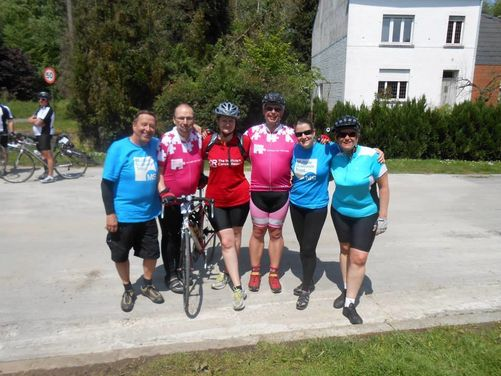 Cancer Research, London to Brussels Bike Ride