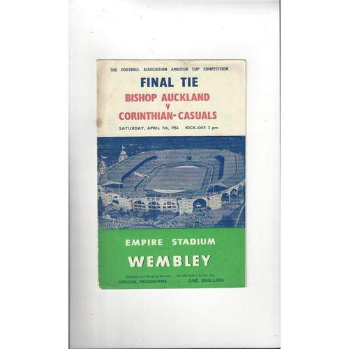 1956 Bishop Auckland v Corinthian Casual Amateur Cup Final Football Programme