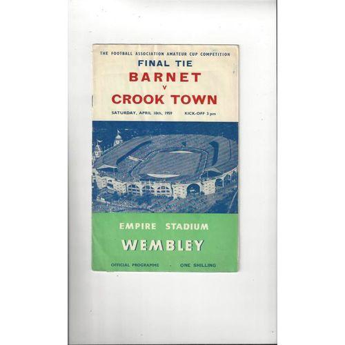1959 Barnet v Crook Town Amateur Cup Final Football Programme