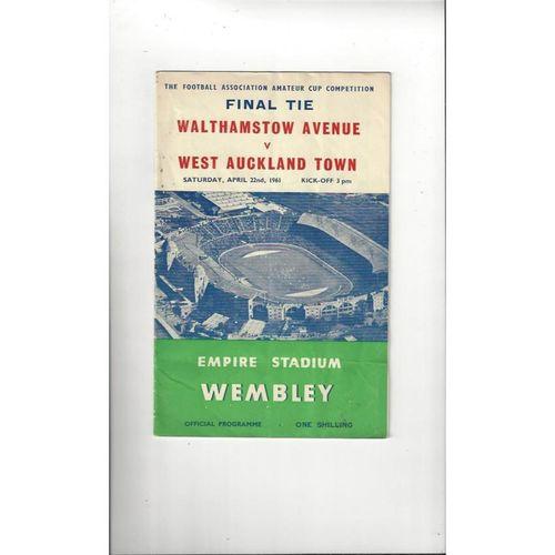 1961 Walthamstow Avenue v West Auckland Amateur Cup Final Football Programme