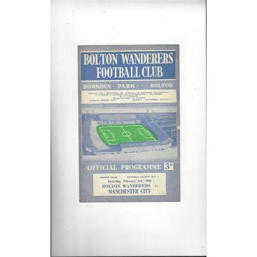 Manchester City Away Football Programmes