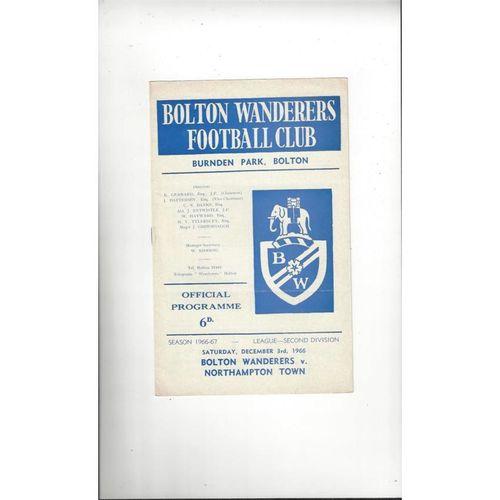 Bolton Wanderers Home Football Programmes