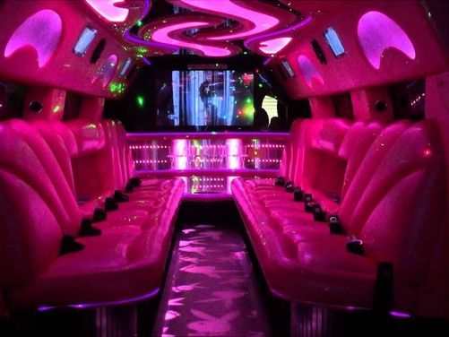 Pink Playboy Super Stretch Hummer Limousines