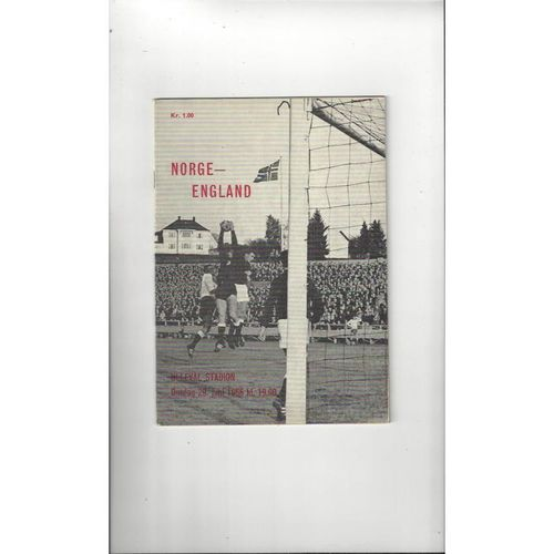 1966 Norway v England Football Programme