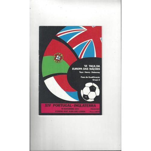 1975 Portugal v England Football Programme