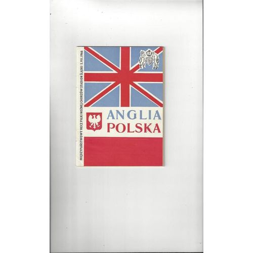 1966 Poland v England Football Programme