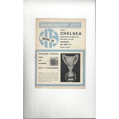 European Cup Winners Cup Semi Final Football Programmes