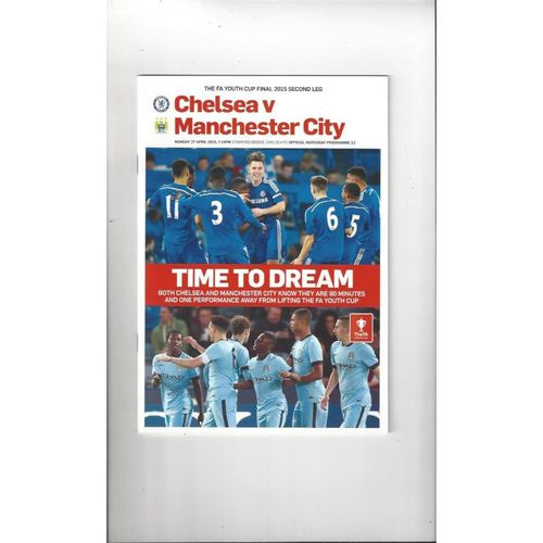 2015 Chelsea v Manchester City FA Youth Cup Final Football Programme
