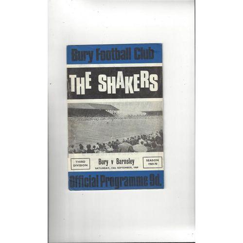 1969/70 Bury v Barnsley Football Programme + League Review