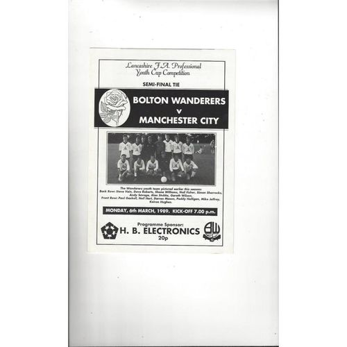 Lancashire Youth Cup Football Programmes All Rounds