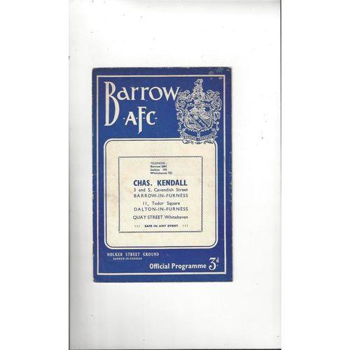 Barrow Home Football Programmes
