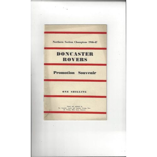 Doncaster Rovers Official Football Handbook 1946/47 Promotion Souvenir