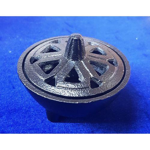 Black Cast Iron Incense Burner
