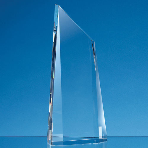 18cm Optical Crystal Facetted Peak Award