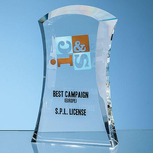 15.5cm Optical Crystal Caledonian Arch Award
